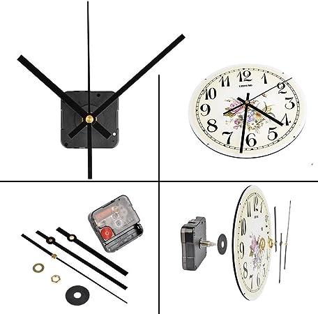 1 Set Silencieux Mur Horloge Quartz Mecanisme Noir et Rouge BRICOLAGE Horloge 05