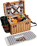Cheap Willow & Wood Picnic Basket