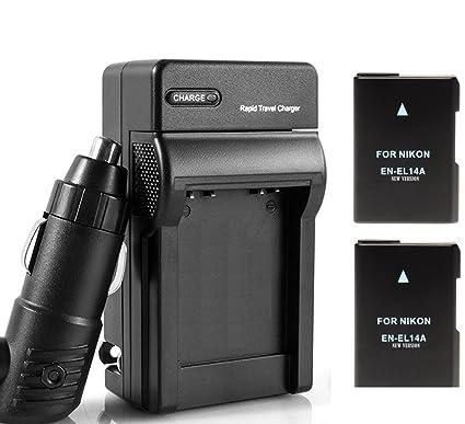 2-pack de repuesto EN-EL 14 una batería + cargador de viaje para ...