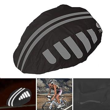 High Visibility Bike// Bicycle Waterproof Helmet Rain Cover w//Reflective Stripes