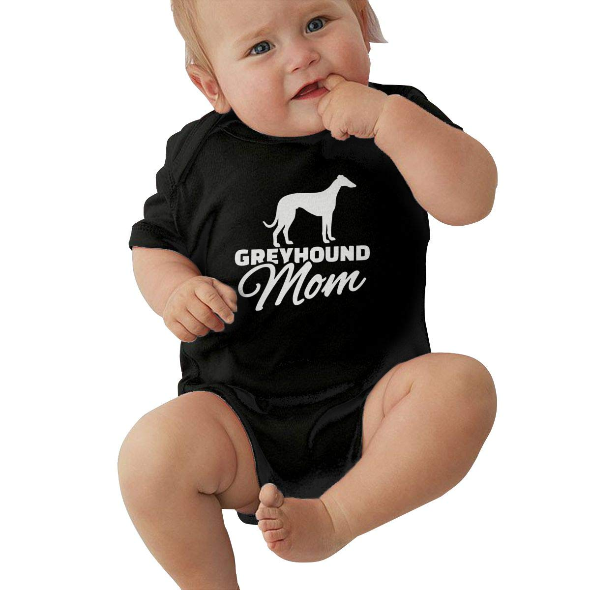 Toddler Baby Boy Girl Short Sleeve Organic Bodysuit Greyhound Dog Mom 1 Baby Clothes