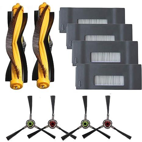 Amoy Repuestos Filtros y cepillos Laterales y Cepillo Principal Accesorios Compatible DEEBOT M80 M80pro M81 M81pro