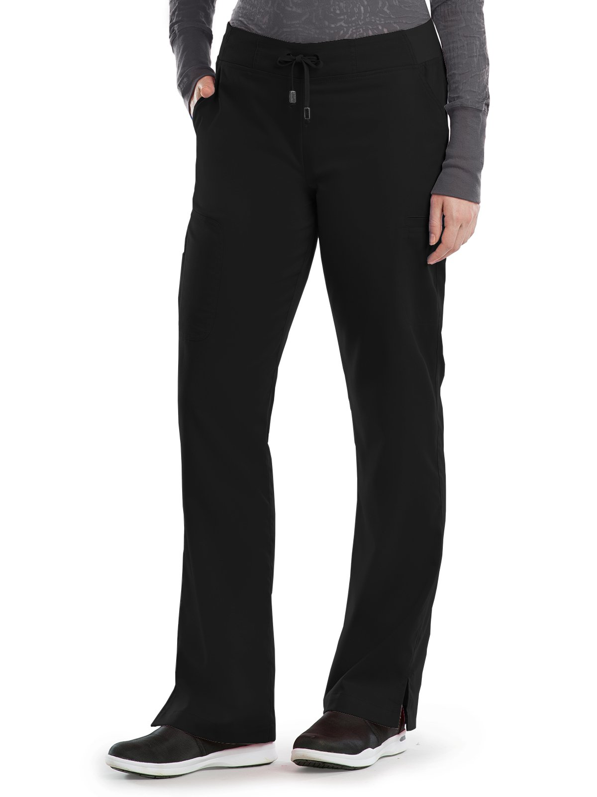 Grey's Anatomy 4277 Straight Leg Pant Black XS Petite