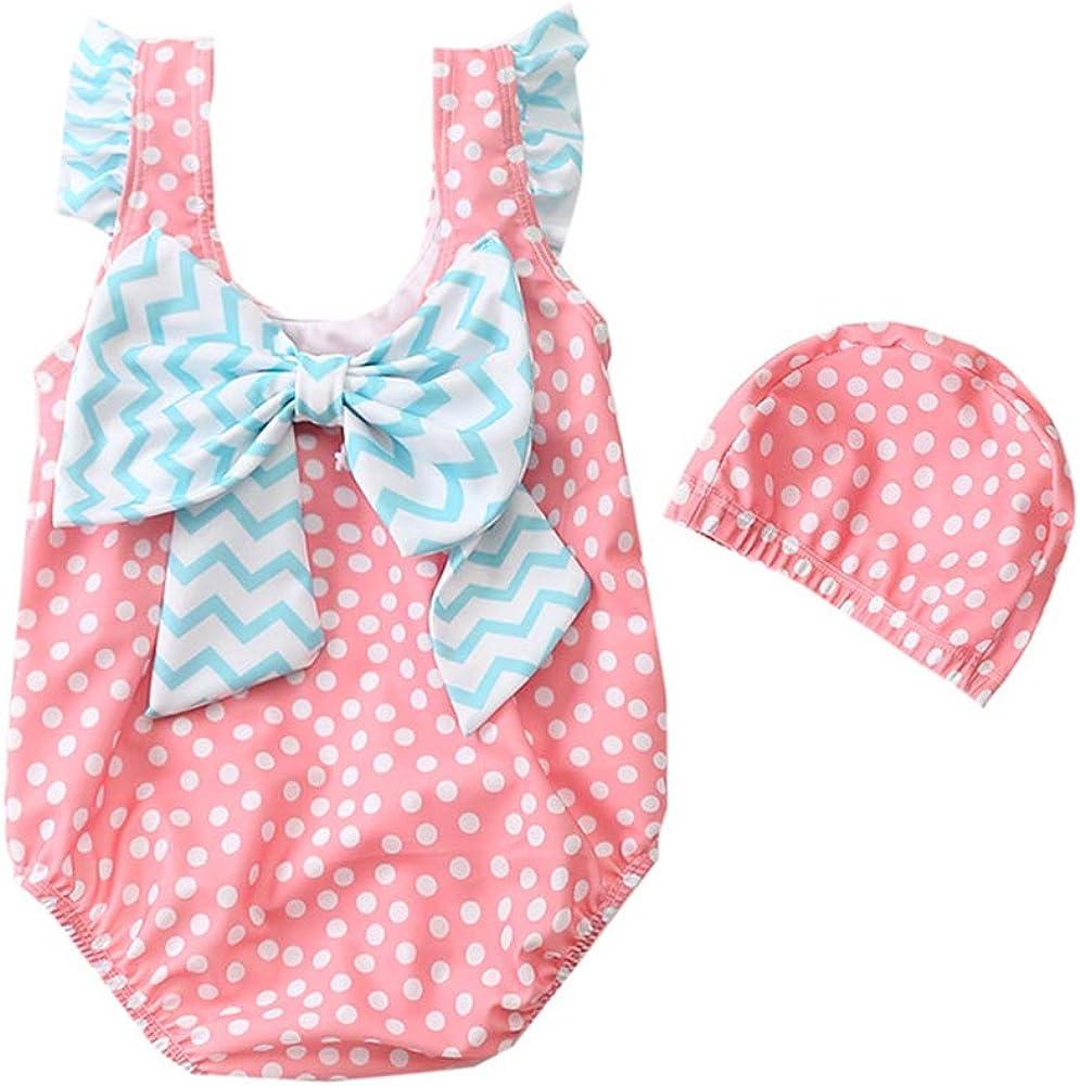 Toddler//Baby Girl Swimsuit Swimwear Ruffle Infant Rash Guard Bathing Suit 1-3t