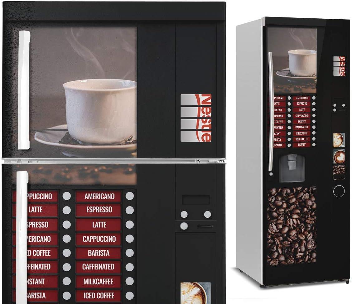 DON LETRA Vinilos para Neveras y Frigoríficos | 185 x 70 cm | Máquina Expendedora de Café | Vinilo Adhesivo Impermeable, Resistente y Económico