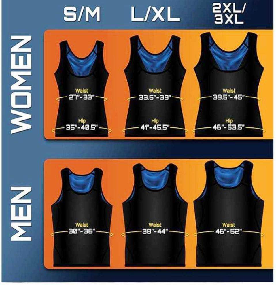 Hombres Mujeres Gym Fitness Advanced Sweatwear Suit para Adelgazar Adelgazar YIDOU Sweat Body Shaper Vest