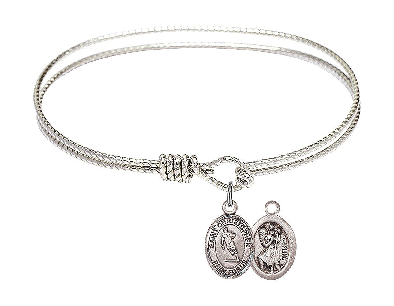 Christopher//Rugby Charm. DiamondJewelryNY Eye Hook Bangle Bracelet with a St