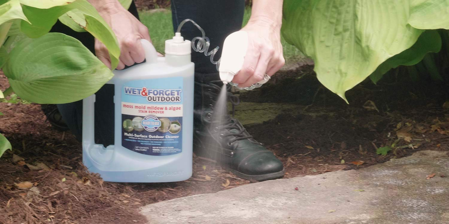 Wet & Forget Outdoor Ready To Use Moss, Mold, Mildew & Algae Stain Remover, 64 OZ. - 804064 by WET & FORGET (Image #6)