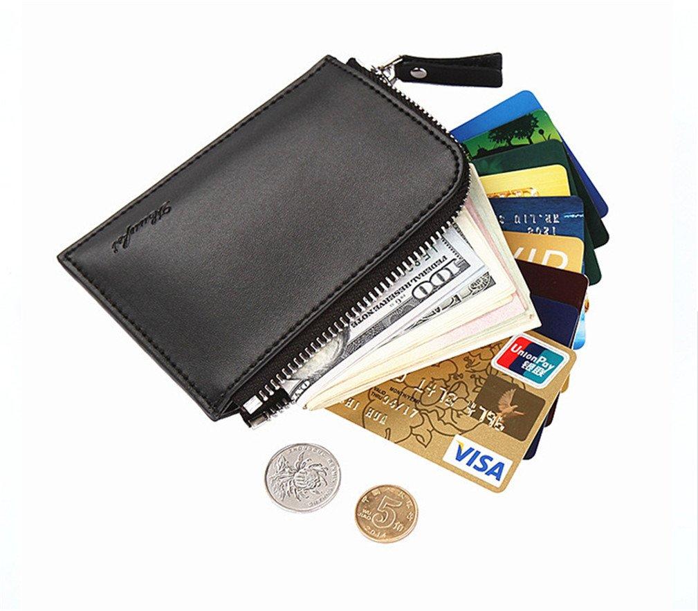 Portafoglio cerniera, BeautyG portafoglio clip di denaro porta carte di credito (Nero) BeautyG-860