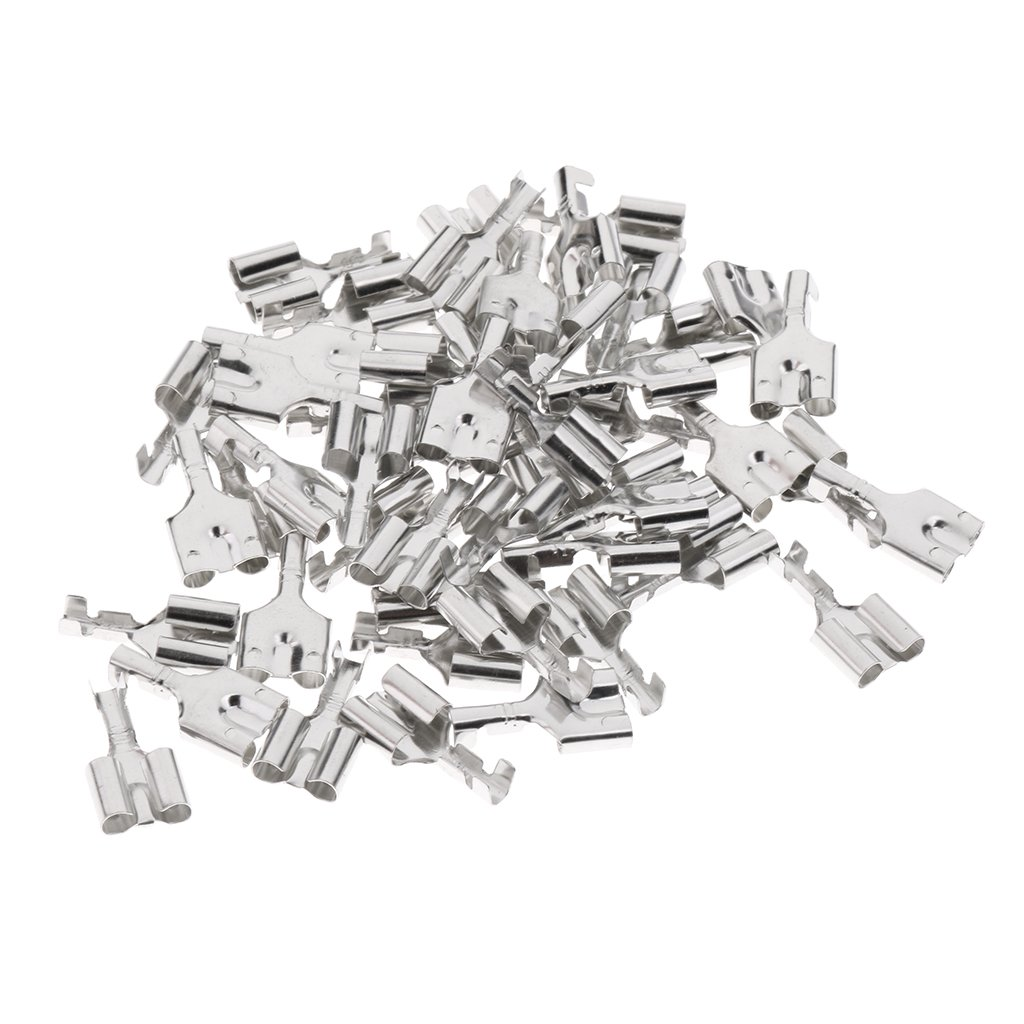 3.5mm Gabelanschlussklemme vergoldet Gabel Terminal-Kabelschuh f/ür meisten Autos-LKW Homyl 50 Stk