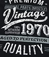 My Generation Gifts 1970 Vintage Year - Aged To Perfection - 50 Cumpleaños Regalos / 30 años Delantal para Hombre Negro
