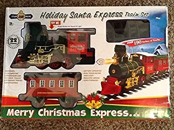 Holiday Santa Express Sound and Light Train Set - Merry ...