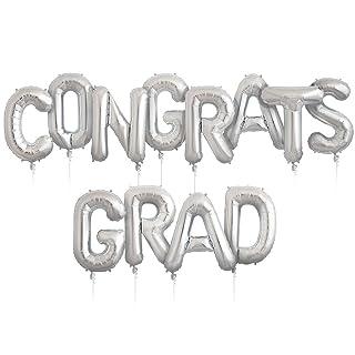 Congrats Grad Kit - Silver - 34 inch Helium Foil Balloons Northstar Balloons