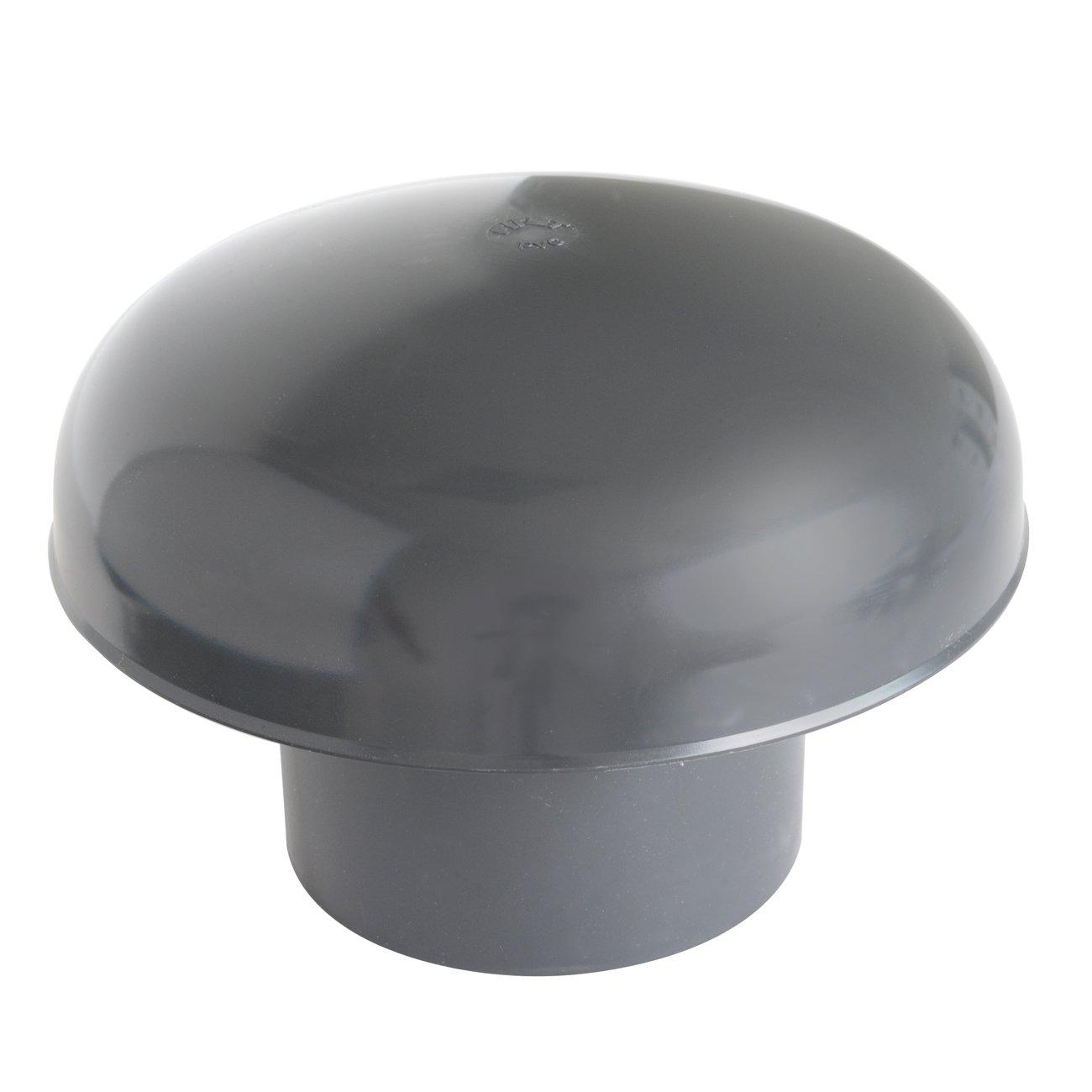 First Plast CDVM110A Cappello di Ventilazione Testa Esalatore, Nero, diametro 110 mm