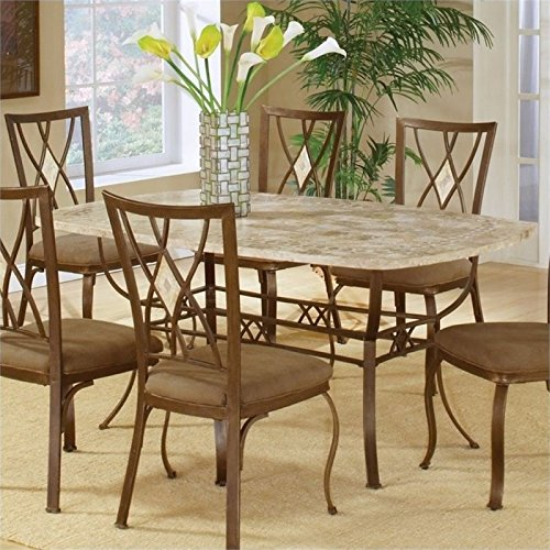 Bowery Hill 5 Piece Dining Set in Brown