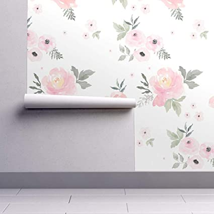 Peel And Stick Removable Wallpaper Pastels Floral Baby