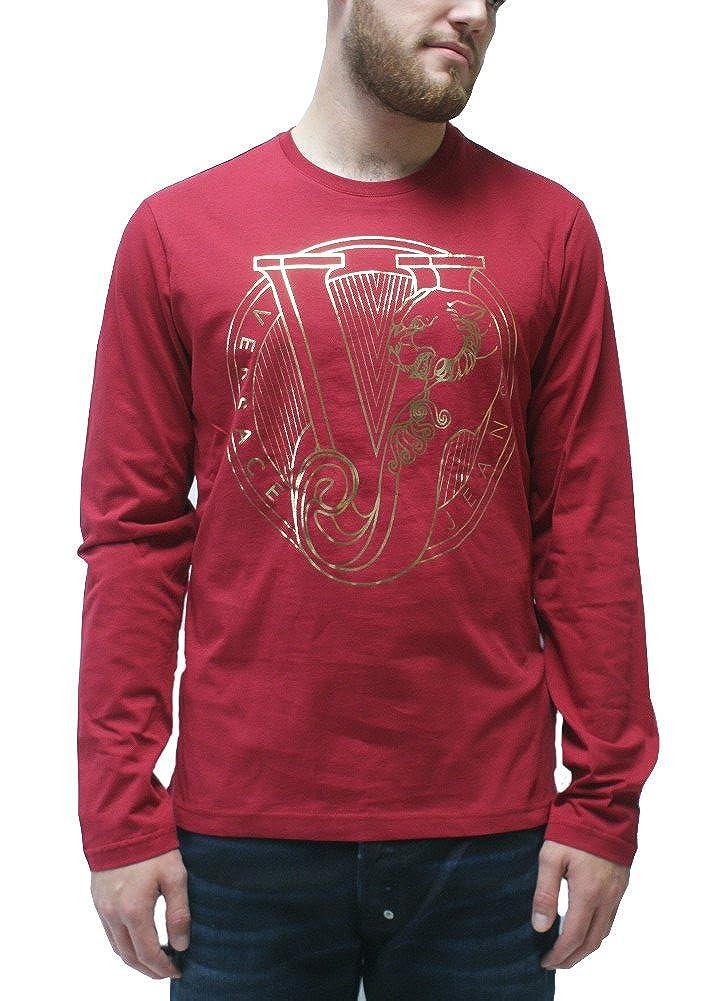 2f1323cc0d8a4 Amazon.com  Versace Jeans Long Sleeve Gold Foil Logo T-Shirt