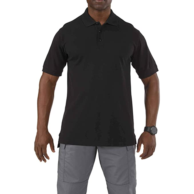 ed6a07bdacc 5.11 Tactical Men's Short-Sleeve Professional Polo, Black, 2X-Large
