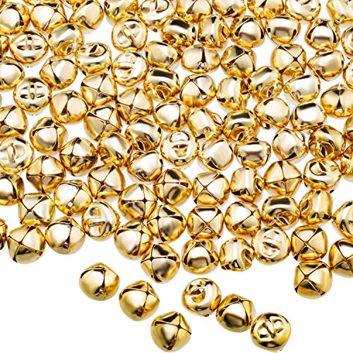 Jingle Bells, Craft Bells, DIY Bells for Wreath, Holiday Home and Christmas Decoration (Gold, 400 Pieces)
