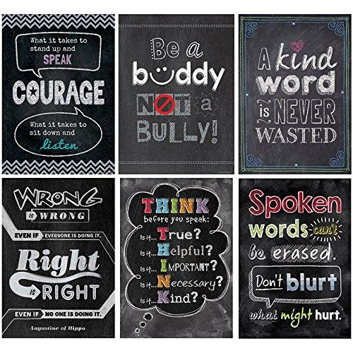 Creative Teaching Press Inspire U No Bullying Allowed Poster 6 Pack -