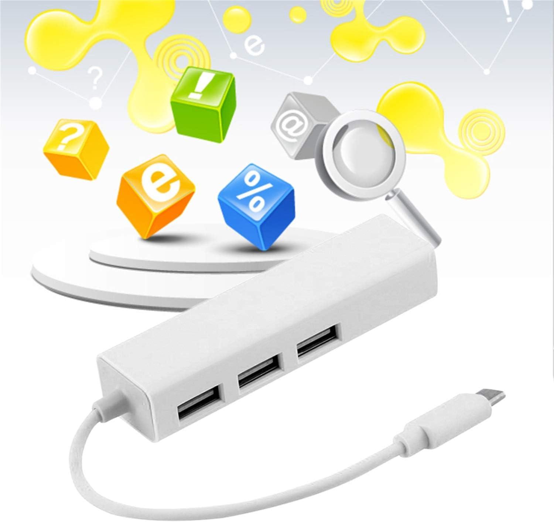 Hot New USB 3.1 Type C USB-C Multiple 3 Ports Hub with Ethernet Network LAN Adapter Eletronic Hot