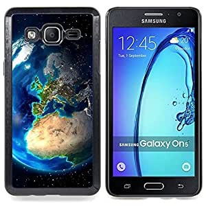 Earth Europe View Continents Planet Space Caja protectora de pl??stico duro Dise?¡Àado King Case For Samsung Galaxy On5 SM-G550FY G550