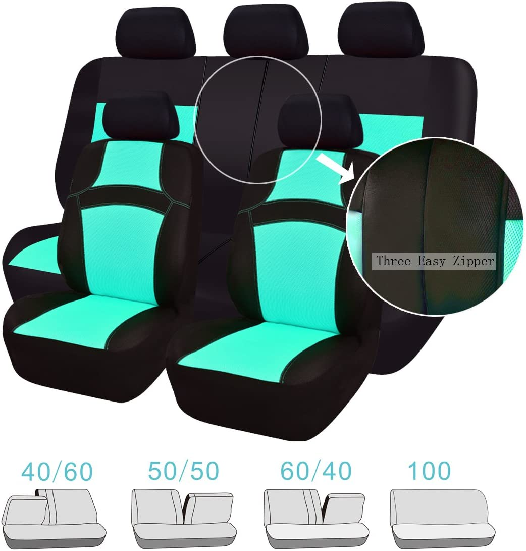 CAR PASS REGENBOGEN Passform Universal Auto Sitzbezug-100/% Atmungsaktiv mit Airbag System