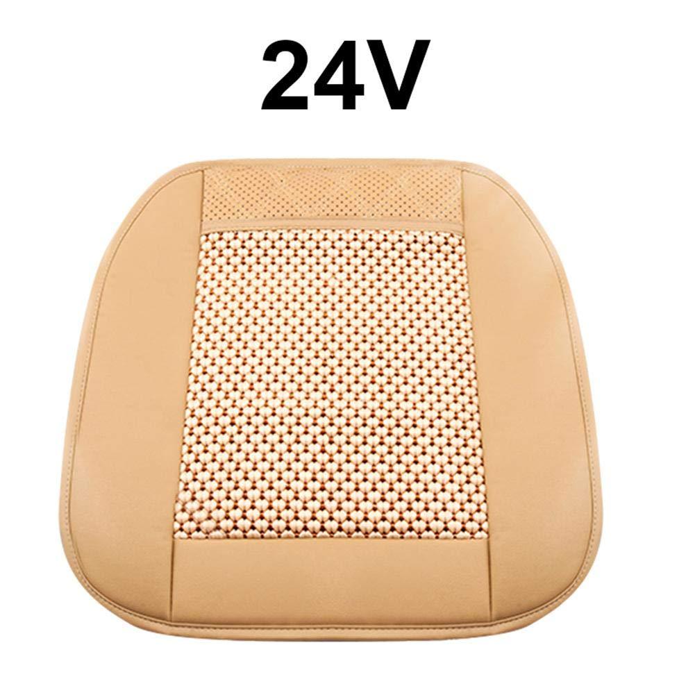 Beige 24V Beige 24V XA007 Hair Dryer Multi-Functional Car Seat Ice Silk Summer Cool Pad Ventilation Seat Air-Conditioning Cushion