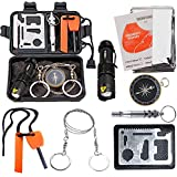 Survival Kit EMDMAK Outdoor Emergency Gear Kit for Camping Hiking Travelling or Adventures