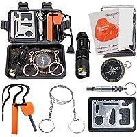 EMDMAK Survival Kit Outdoor Emergency Gear Kit Camping...