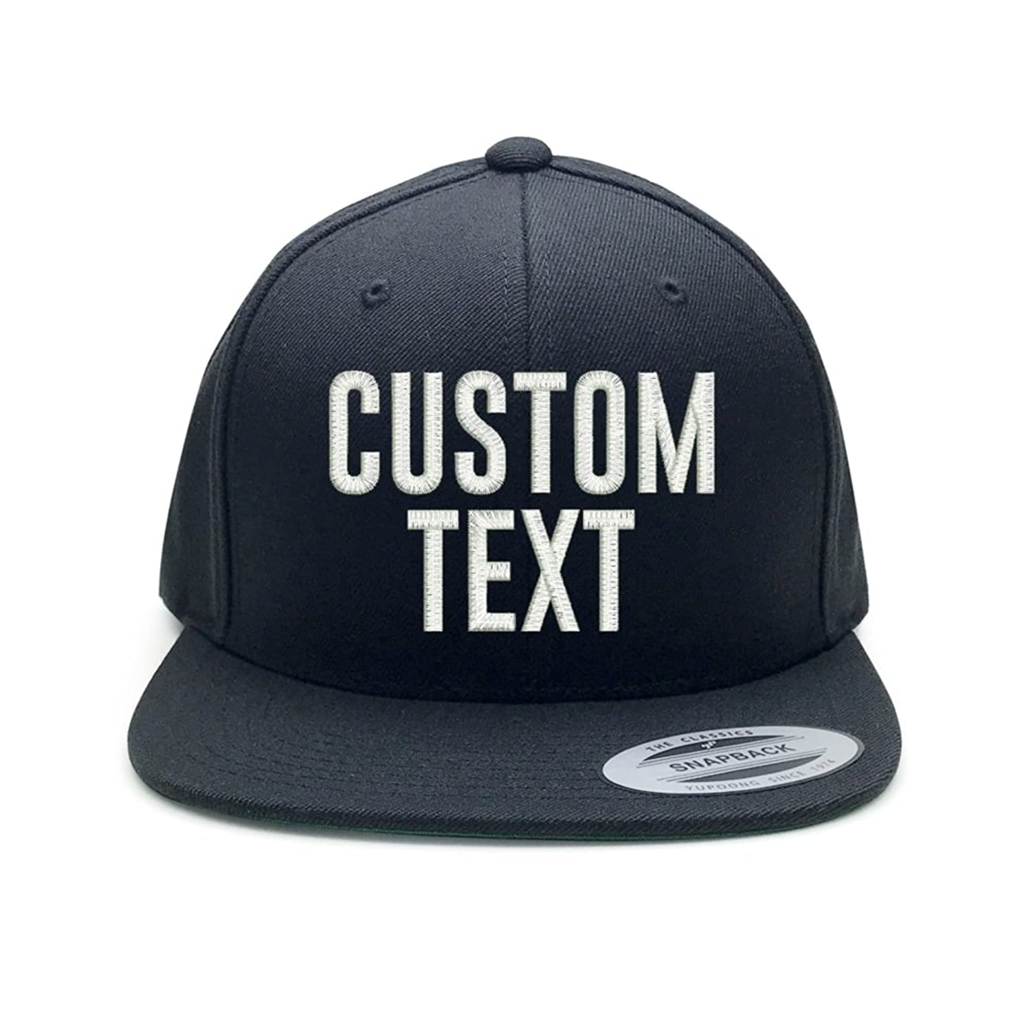 ed3e7e517f7cc Structured 6-panel cap high profile. Plastic adjustable snap - Flat bill  Green undervisor. Customize it with text