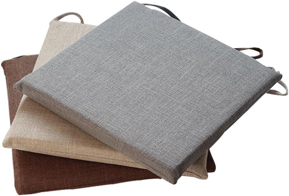 Coussin de Chaise Tatami Coussin 45 x 45cm D/éhoussable Respirant Coussin Japonais Coton et lin Hyper Moelleuses Coussin de Si/ège Ventil/é Id/éal pour bureau int/érieur ext/érieur