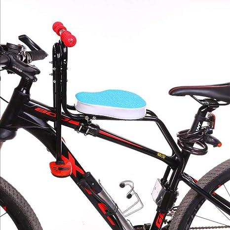 KUANDARMX Seguro Sillines De Bicicleta para Niños, Bicicleta De Montaña/Vehículo Eléctrico, Asiento De Seguridad Extraíble para Bebés con Delantera Reposabrazos y Cojín Grueso Presente, Blue: Amazon.es: Deportes y aire libre