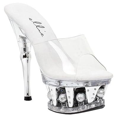 cd7e92a00781c Amazon.com | 6 Inch High Heel Platform Sexy Shoes Sparkle Balls ...