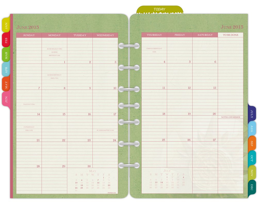 Amazon.Com : Day-Timer Flavia Monthly Desk-Size Planner Refill