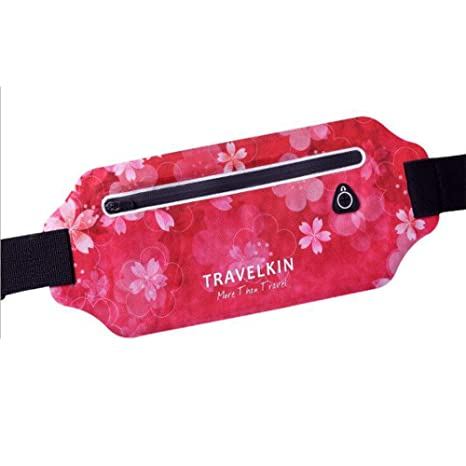 exyau Bolsa de Cintura para Deportes, Ultra Delgada, para Exteriores, portátil, Multifuncional