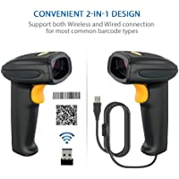 Youthink 2.4GHz Wireless Hand Held Barcode Reader Scanner (Black)