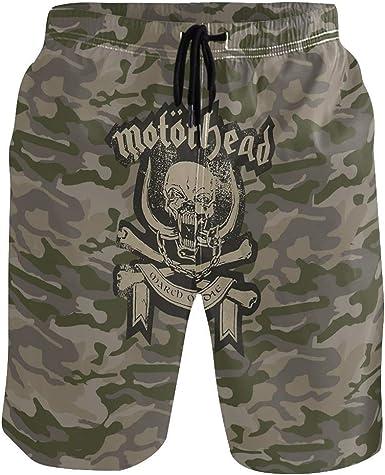 akingstore Pantalones Cortos de Playa para Hombres Motorhead Camo Bañadores Botas de Secado rápido con Forro de Malla en los Bolsillos