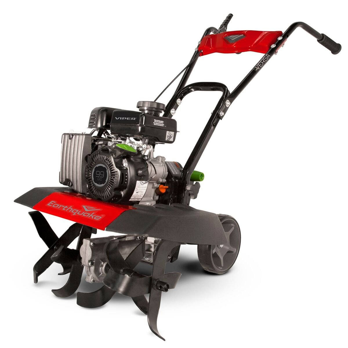 Earthquake 20015 Versa Front Tine Tiller Cultivator with 99cc 4-cycle Viper Engine, 5 Year Warranty by Earthquake