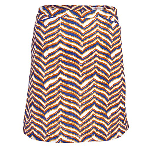 - Monterey Club Ladies Dry Swing Zebron Print Pull on Skort #2912 (Autumn Glory/Kalvin Blue, Large)