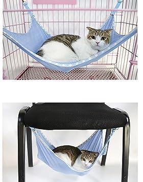 BXT Malla Transpirable Cat Hamaca Cama bajo silla Jaula Conejo ...