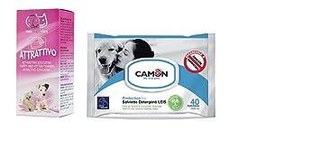 Camon attrattivo el aprendizaje Cachorros Perros y Gatos & Camon Toallitas al aceite de neem y