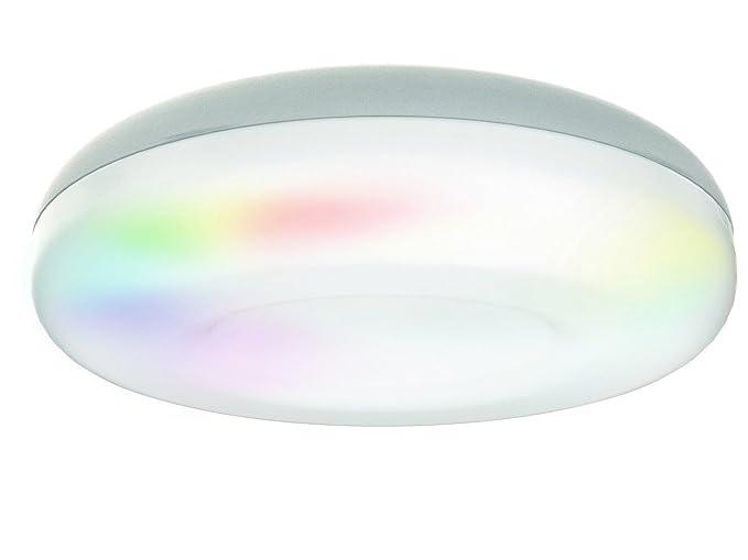 Jedi 563041715 plafonnier daphnis ip44 métal argent amazon fr luminaires et eclairage