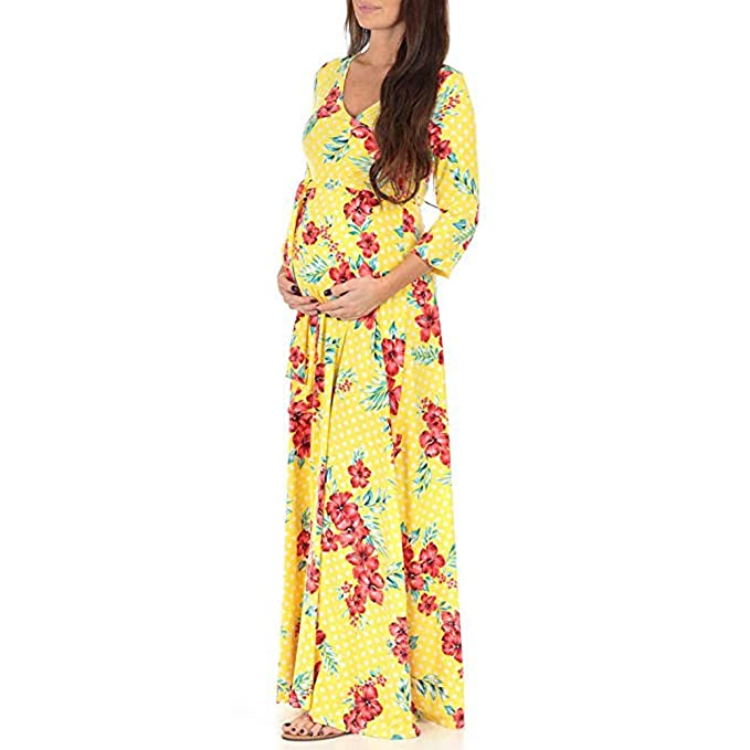 Amazon.com: Smdoxi Long Sleeve Chiffon Gown Maxi Pregnancy Photography Dress for Photoshoot and Baby Shower Maternity Elegant Dress (XL, A12): Pet Supplies