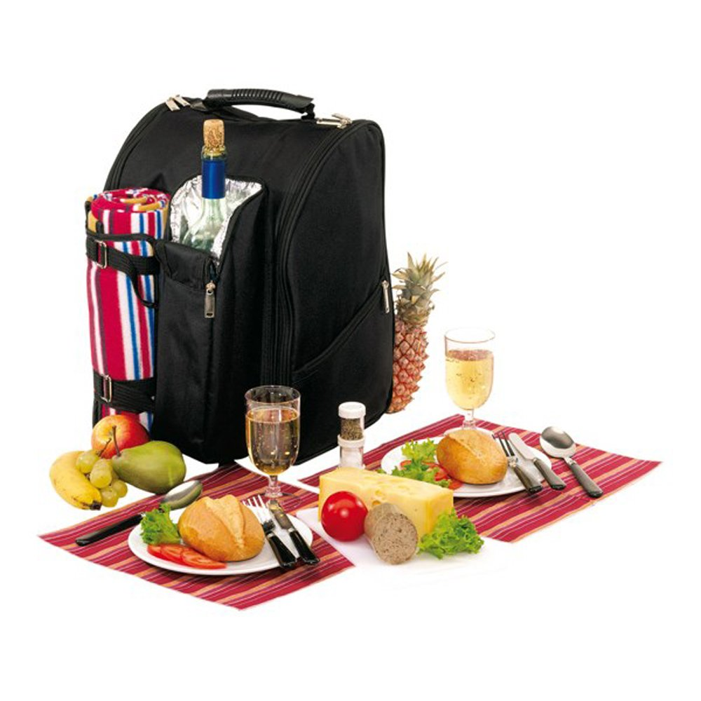 *Picknickrucksack für 2 Personen, inkl. mit Fleece-Decke*