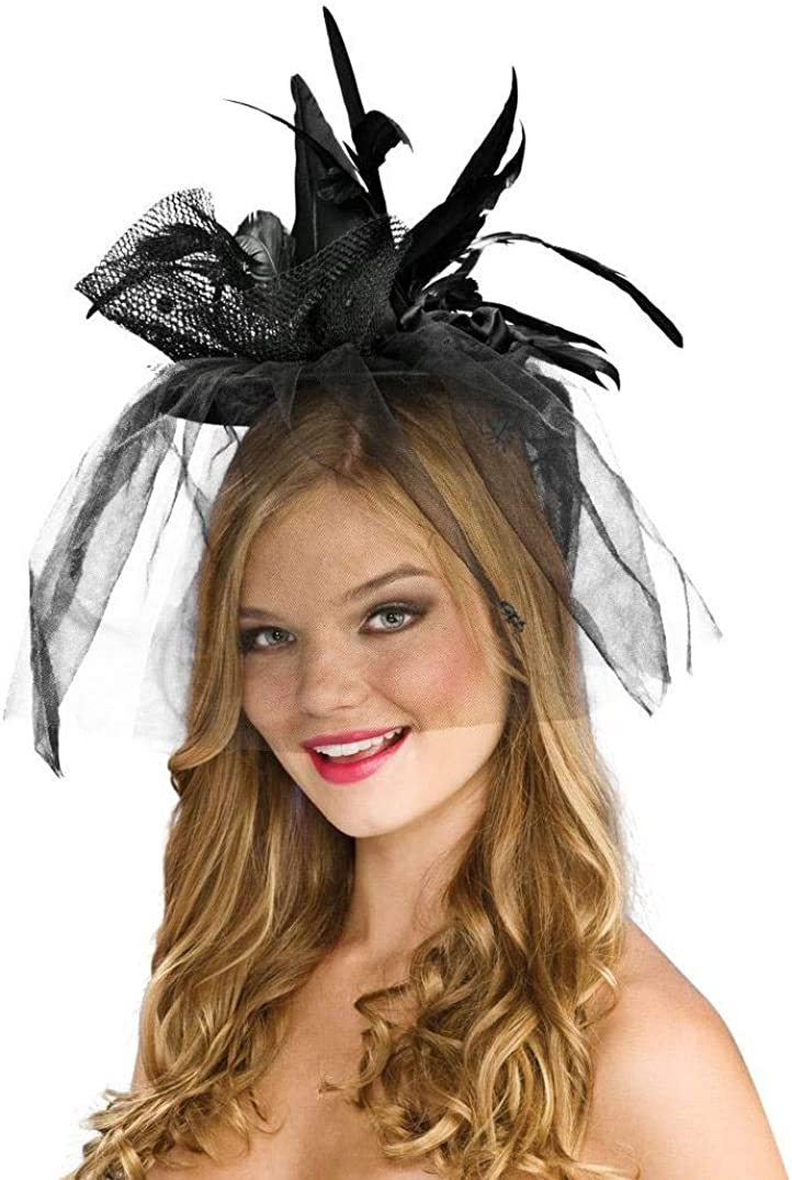 Mini Witch Hat Black Adults Girls Ladies Costume Headband Witches Head Band NEW