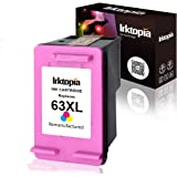 Inktopia Remanufactured for HP 63XL 63 XL Ink Cartridges 1 Tri-Color Ink Level Display Used in HP Officejet 5255 5258…
