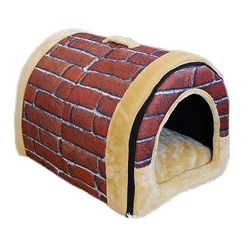 MwaaZ Camas para Gatos Sofás Casa para Mascotas y sofá Antideslizante para Perros Cat Igloo Beds Brick Small (Azulejos para Paredes Vintage): Amazon.es: ...
