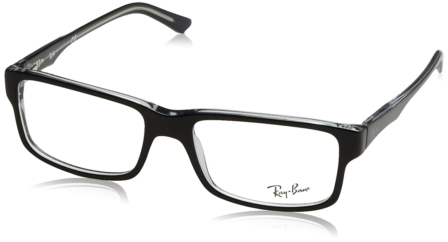 Ray Ban RX5245 Eyeglasses Top Black & Transparent 52 mm Ray-Ban MOD.5245FRAME203452_2034-52