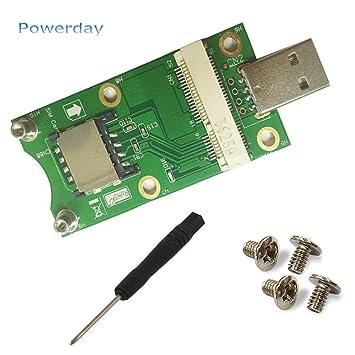 powerday® Mini PCI-E a USB adaptador con ranura para tarjeta ...